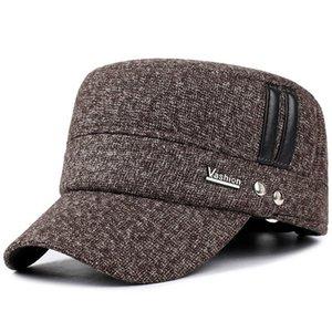 En iyi Gölge Voron 2021 Avrupa Kış Yeni erkek Pamuk Şapka Moda Erkekler Ve Kadınlar Sonbahar Ve Kış Beyzbol Şapkası Ayarlanabilir Elastik Kulak