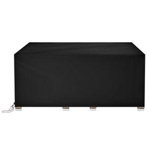 270 * 180 * 89 cm 210D 210D Durevole Oxford Panno Polvere Proteggi Tavolo e sedia Mobili da esterno dalla pioggia Sun Nero Materiali ad alta densità