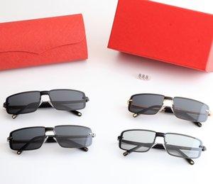 2021 Gafas de sol para hombre de alta calidad Sombra de marco cuadrado Conducción de deportes al aire libre Viajes de viaje de moda Gafas de sol HD polarizadas Lentes