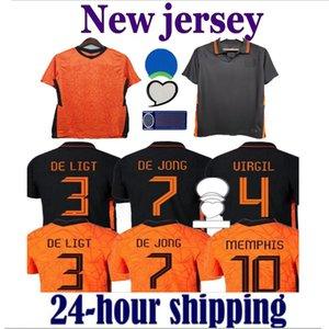 MEMPHIS 2021 Netherlands Soccer Jerseys shirt HOlland Player version JONG DE LIGT STROOTMAN VAN DIJK VIRGIL 2022 football jersey Adult men + kids