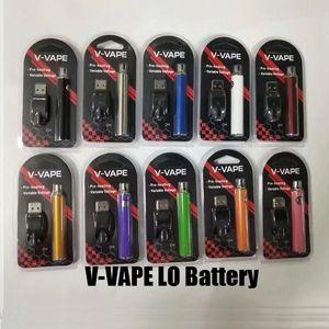 V-VAPE LO Reheate VV Комплект батареи VV 650MAH Переменная аккумулятор напряжения с зарядным устройством USB для 510 резьбового бака толщиной масляного картриджа