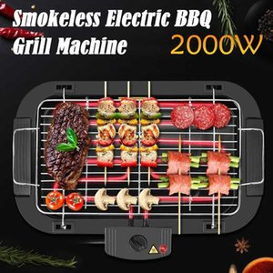 Outdoor Portable Smokeless Electric Pan Grill BBQ Stove Griddle Barbecue 5 Temperature Mode For Home Camping Camp Kitchen