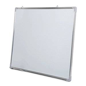 Whiteboard Board Writing Magnetic Single Side with Pen Erase Magnets Buttons for Office School 50x35cm Aluminium Alloy Frame 210312