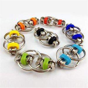 Ключевое кольцо Fidget Spinner Gyro Bandner Metal Toy Toy Gyro Regring Цепь Рука Спиннер Игрушки Для Уменьшить Декомпрессионные Партии Партия