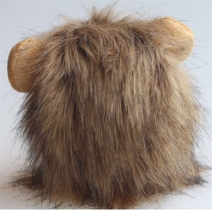 Cat Lion Mane Pet Lion Costume Pet Lion Hair Wig for Dogs Cats Pets Halloween Christmas Party Gift 188 V2
