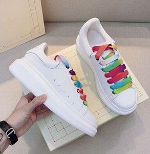مصمم فاخر جودة عالية الرجال والنساء الأبيض عارضة الأحذية سميكة أسفل منصة أحذية رياضية زوجين حذاء حجم 35-44