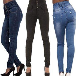 Mujer Denim Lápiz Pantalones Top Marca Estirar High Cintura Mujer Capris Wholesale Mujeres