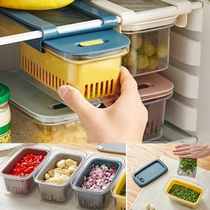 Pull-Out Sealed Box Refrigerator Wall Storage Kitchen Accessories Container Supplies Containers Bottles & Jars