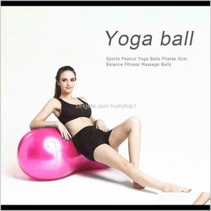 Pvc Peanut Shape Explosion Proof Fitness Yoga Exercise Ball Health Sports Gym Durable Peanut Ball Pilates Ball Zza1166-2 Buznu Uhmiw