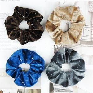Flamelette Lady Kız Saç Halkası Scrunchies Nefis Moda Aksesuarları Hairband Elastik Rhinestone Ekose Bant 1FR F2