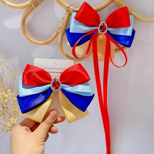 Girls Hair Accessories Barrettes Childrens Kids Bow Ribbon Clips Jewelry Baby BB Clip Princess B8195