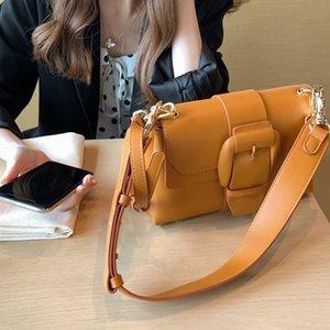 Fashion all-match leather shoulder bags retro simple solid color Women's purse chain cream bag Crossbody handbag 3