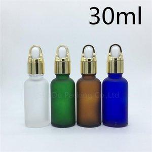 Travel Bottle 500pcs 30ml Amber Green Blue Transparent Frosted Glass Essential Oil Bottle,30cc Perfume Dropper Storage Bottles & Jars