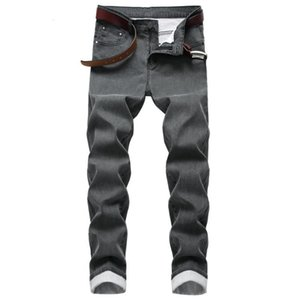 Mens Jeans Casual Fashion Style Biker Jeans Stretch coated casual jeans slim mens pants size 30-40