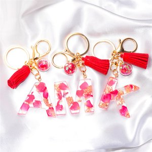 Кисточка буква брелок модный творческий красочный 26 английский начальная смола сумочка для брелок для женщин подарок