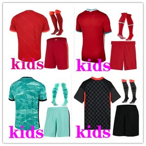 Kids 2021 2022 كرة القدم أطقم المنزل Third Third Soccer Sets 20 21 22 Camiseta de Fútbol Jersey Kid Footbal Kit