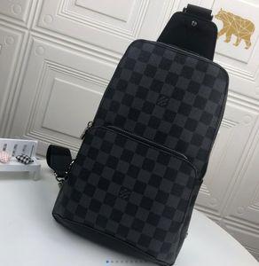 "GG""LV""Louis…Vitton""YSL…VUTTON"" AV. SLING BAG D.GRAP. N41719 travel bag MENS Avenue cross body breast shoulder pouch Genuine leather chest bag"