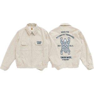 Outlet Human Made 21aw Woolen Nigo Pocket Tooling Polar Bear Casual Jacket JUN