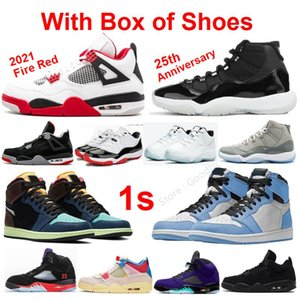 Raging Bull 5 University Blue 1 Chaussures de basketball Stealth 2 Bred Fire Red 4s 11S Space Confiture 11 Concord 13 Blanc Cement 4 Sneakers Hommes Femmes Formateurs