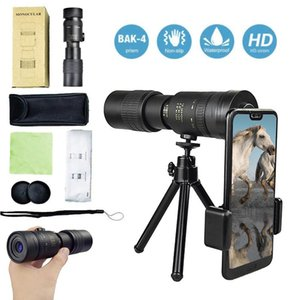 4K 10-300X40mm Super Telepo Zoom Monocular Telescope Portable Beach Travel Camping Supports Smartphone To Take Pictures