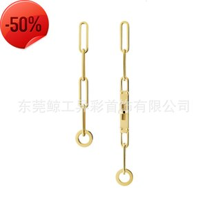 Korean xuanya style women's group net red same version chain Kelly Earrings chaine left and right asymmetric