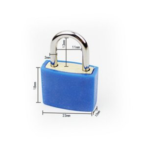 30x23mm Small Mini Strong Metal Padlock Travel Suitcase Diary Book Lock With 2 Keys Security Luggage Padlock Decoration Many Colors OOD5587