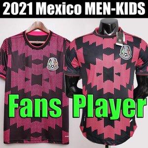 Mexico maillots de football Copa america Camisetas 20 21 Fans Version du joueur CHICHARITO LOZANO DOS SANTOS 2021 maillots de football kit hommes + enfants
