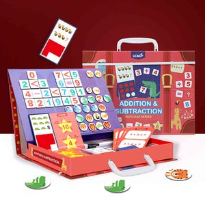 Magnetic Montessori الرياضيات لعبة الحسابات الجمع الطرح الرياضيات لغز لعبة تعليمية ألعاب تعليمية عد المساعدات هدية 210329