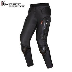 Pantalones de montar a caballo de la motocicleta Armadura Cross Country Bicycle Anti Otoño Montar Pantalones Hip Protección Pantalones Perspectiva de la rodilla Caballero