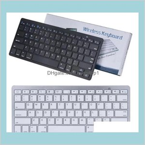 Ultra Slim Bluetooth Keyboard Mute Tablets And Smartphones For Tablet Wireless Keyboard Style Is Android Windows Pc D2X9S Jlzeb