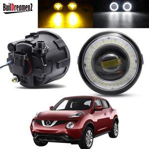 Other Lighting System 2 X Angel Eye Fog Light Assembly For Juke F15 Hatchback 2010-2014 Car LED Lens DRL Daytime Running Lamp 30W H11