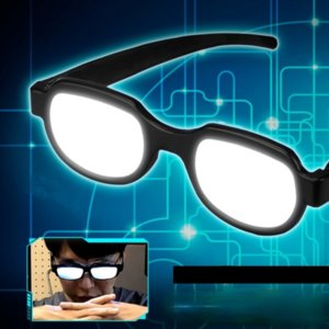 Japan Anime wireless LED Light Glasses Eyewear toys Cosplay Costumes Detective Conan Online Show Funny Props one size for Children and adults