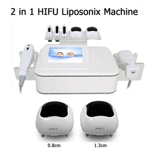Portable Liposonix Body Slimming 2 In 1 Spa Salon 3D Liposonic Hifu Ultrasonic Skin Tighthening Face Lift Machine