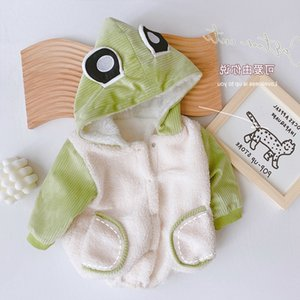 0-2-year-old one-piece suit newborn baby's ha Yi super cute little frog hood bag fart go out cotton padded clothes ml010&. very popular Chinese .