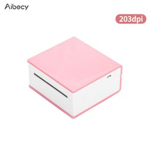 Aibecy Mini Portable Thermal Printer BT Wireless Pocket Po 203dpi Support 53mm Paper Width Multiple Langulage Print Printers