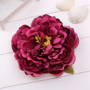 Simulation Peony Flower Head Large 14cm Silk Artificial DIY Bohemian Hat Hairpin Accessories Wedding Home Decorative ZZE5265
