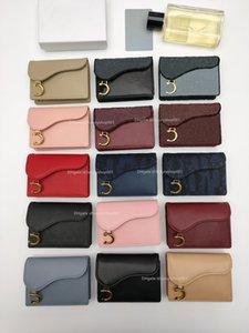 Premium D logo saddle flip card holder women wallet lady designer wallets purse purses