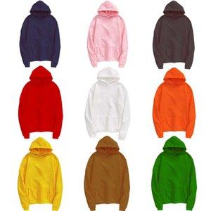 Sweatshirt Automne Hiver Porter des amoureux de femmes en peluche des hommes de la couleur de la peluche des femmes 'T-shirt Couleur unie avec capuchon et pull