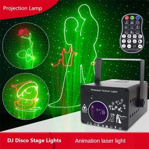 3D Laser Lighting Projection Light Rgb Colorful Dmx 512 Scanner Projector Party Xmas Dj Disco Show Lights LED Music Equipment Dance Floor