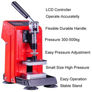 Rosin Press Arbor Machine 0.5Ton Dual Heating Plates Manual Small Rosin Heat Pressing Machines 500kg Pressure with 400W Temperature Adjustable Extracted Tool