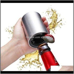 Automatic Beer Opener Stainless Steel Wine Corkscrew Wine Opener Kitchen Tools Gadgets Accessories Creative Bottle Opener Cmk3R Ko5Xt