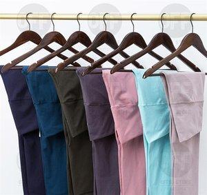 2021 Bayan Tayt Tasarımcıları Yoga Pantolon 32 Renkler Yüksek Bel Hizala Spor Spor Giyim Legging Elastik Fitness Bayan Genel Tam Tayt Egzersiz