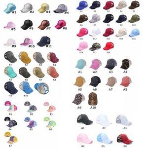 غسله ذيل حصان قبعة بيسبول فوضوي الكعك القبعات criss القطن للجنسين قناع قبعة قبعة snapbacks قبعات GGA3506