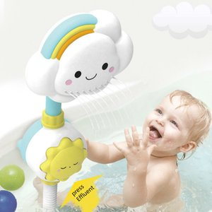 Bath Toys for Kids Baby Water Game Clouds Model Faucet Shower Water Spray Toy For Children Squirting Sprinkler Bathroom Baby Toy L0323