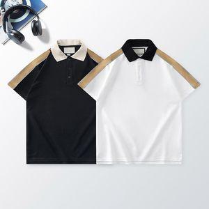 Men Casual Polo Shirt Fashion Reflective Webbing Letter Pattern Mens Summer Tops Breathable Short Sleeve Unisex Tees
