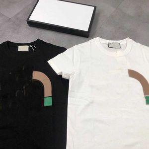 2021 мода футболки для мужчин топы писем совместная печать мужские женские одежды с короткими рукавами футболки футболки