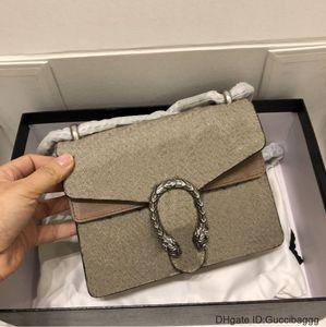 Dionysuss Bolsa De Ombro Para Mulheres Lona Pequeno Tigre Cabeça Fechamento Chain Chap Bags 7A Top Quality Handbags Bolsa De Famito Bolsa