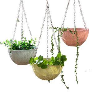 Garden Supplies 3 Point Gardening Plant Flower Pot Basket Hanging Chain with Hooks EWB6789
