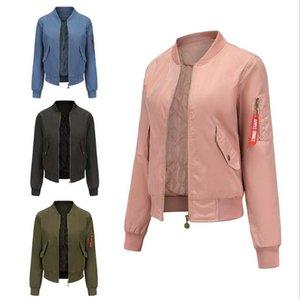 Women's Jackets 2021 Bomber Jacket Women Waterproof Baseball Spring And Autumn Flight Suit Long-sleeved Plus Cotton