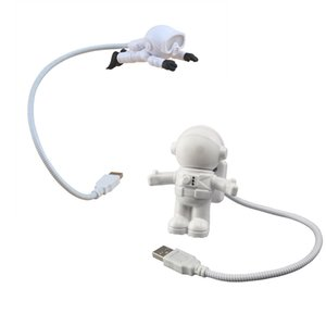 Night Light USB LED Reading Lights Creative Spaceman Astronaut Eye-Care Flexible Laptop Lamp